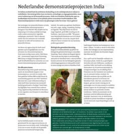 Nederlandse demonstratieprojecten India